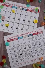 How To Make A School Calendar Christmas Countdown Kindness Calendar