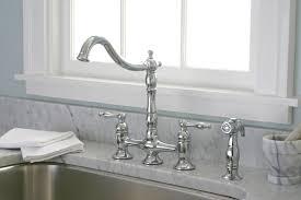 bridge kitchen faucets nickel