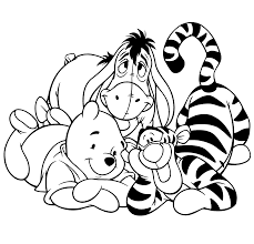 Winnie The Pooh And Friends Coloring Pages Color Bros