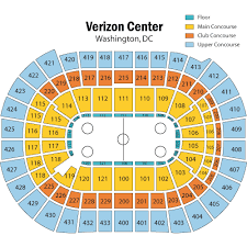 Verizon Center Seating Chart Capitals Breakdown Of The Capital One Arena Seating Chart