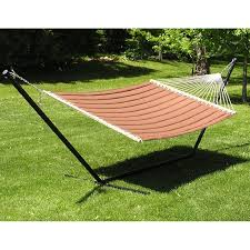 two person hammock with stand. Shop Grand Quilted Twoperson Hammock And Stand Set Brown Free Shipping Today Overstockcom 7992289 With Two Person