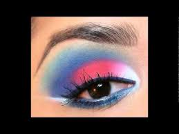 makeup tutorial red white blue smokey eye