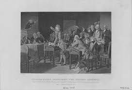 patrick henry s ldquo liberty or death rdquo speech in the headlines another engraving depicting henry s speech