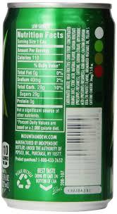 Culver S Nutrition Information Chart Diet Mountain Dew Nutrition Information