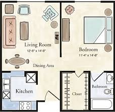 Delightful View Larger Floor Plan · One Bedroom Traditional