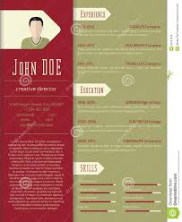 Cool Free Resume Templates Modern Cv Resume Template Design Stock Illustration Illustration 73