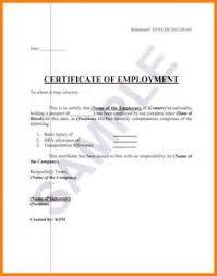 Employee Working Certificate Format Employment Certificate Sample Best Templates Pinterest 4