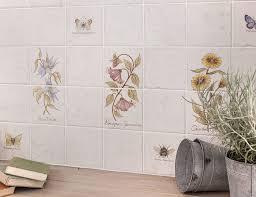 soro botanical foxglove 2 tile panel home hand painted