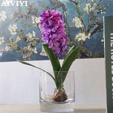 <b>1 PCS Artificial</b> Flower Hyacinth with Bulb Home Garden wedding ...