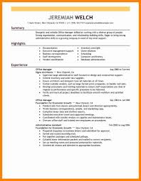 Sample Office Manager Resume Building And Grounds Supervisor