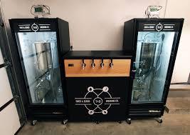 dual conical brewpi setup with glass door fridges