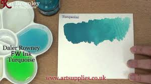 Daler Rowney Fw Ink Turquoise 145
