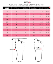 Malaysia Size Chart Buy Shoes Online Malaysia Shoes For Women Happy2u