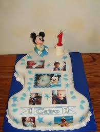 Baby Mickey First Birthday Cake Cakecentralcom