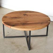 round coffee table reclaimed wood