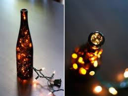 Two things that always seem to be in surplus around the holidays are empty  wine bottles and strands of Christmas lights. Turn the two into a novel  lamp with ...