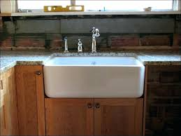installing farmhouse sink in existing cabinets farm installation install counter far