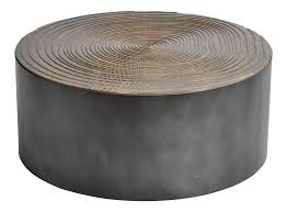 The elegant curve of the legs make this table a bit. Parisian Round Oak Wood Coffee Table With Metal Base Chairish