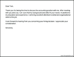 Thank You Letter After Phone Interview Best Solutions Of Follow Up