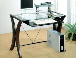 full size of desk glass computer desk with keyboard tray design top gl with tray