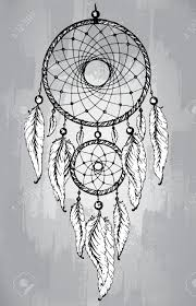 Dream Catchers Sketches Dream Catcher With Feathers In Line Art Style Hand Drawn Sketch 30