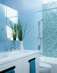 Small Bathroom Tile Blue Design Ideas EVA Furniture