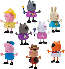 Amazon.com: Peppa Pig What I Want to Be 8-Figure Pack: Toys & Games