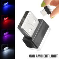 <b>Car</b> Electronics Accessories Mini <b>USB</b> LED <b>Car Interior</b> Light Neon ...
