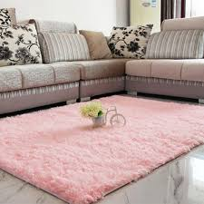 Living Room Carpet Rugs Shaggy Anti Skid Carpets Rugs Floor Mat Cover 80x120cm Pink