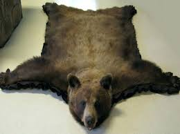bearskin rug faux fur bear skin