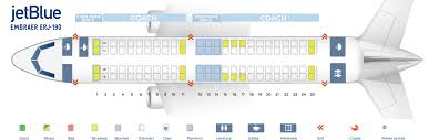 Embraer E90 Seating Chart Seat Map Embraer Erj 190 Jetblue Best Seats In Plane