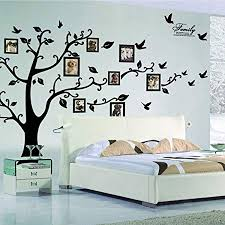 x large diy family tree wall art stickers removable vinyl black trees photo frames wall on wall art family tree uk with x large diy family tree wall art stickers removable vinyl black