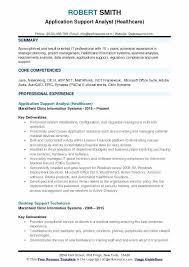 healthcare resume sample desktop support analyst resume application support analyst