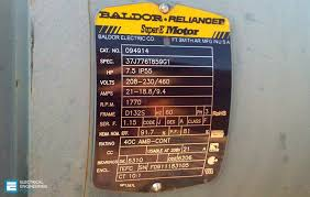 19 essential information found on motor s nameplate