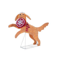 christmas lawn decoration yard outdoor 39 in warm white led dog pet retriever
