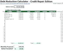debt reduction calculator snowball debt reduction spreadsheet inspirational credit card calculator