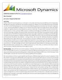 Microsoft Job Description Dynamics Crm Consultant Microsoft Opportunity