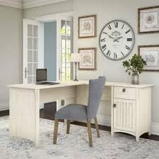 home office desk white. Maison Rouge Lucius Antique White L-shaped Storage Desk Home Office Desk White M