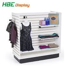 stylish wooden gondola shelving slatwall display stand pictures photos