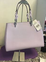 michael kors cynthia medium saffiano leather satchel light quartz purple silver for