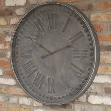 contemporary large rustic wall clock