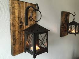 image of large candle wall sconces rustic