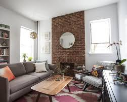 katy skelton exposed brick fireplace