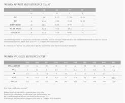 Weekday Size Chart Blog Global Size Chart