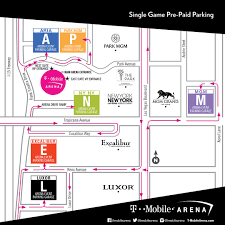 Excalibur Seating Chart Parking T Mobile Arena