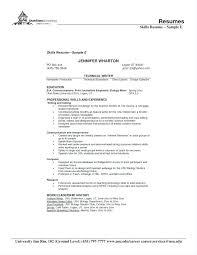 Resume Skills List Examples Joefitnessstore Com