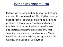 python programming assignment help python assignment experts 4 python assignment