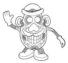 Dia De Los Muertos Skull Coloring Pages | Printable Coloring Pages ...