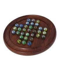 Wooden Solitaire Game With Marbles Wooden Solitaire Puzzles Game with Marbles Buy Online at Best 34
