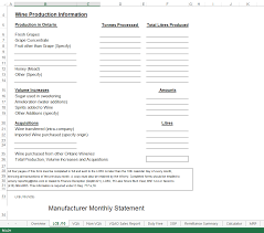 Wine Business Monthly Sales Report Excel Templates At